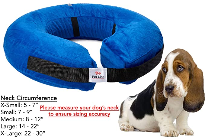 Inflatable Dog Collar, Recovery Cone, After Pet Surgery, Prevent Dogs from Biting & Scratching, Adjustable Thick Strap, Soft Comfortable Donut (Large) best inflatable pet collar