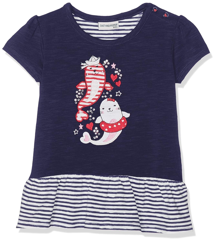 Salt /& Pepper B T-Shirt Meer Uni Volant B/éb/é Fille