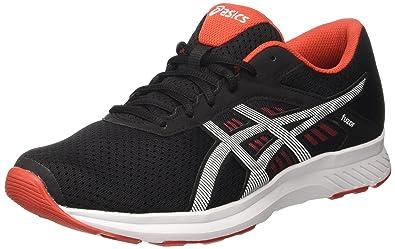 buy popular 70f7c a3a2f ASICS Men s s Fuzor Gymnastics Shoes Nero (Black Snow Vermilion) 7 UK 41.5