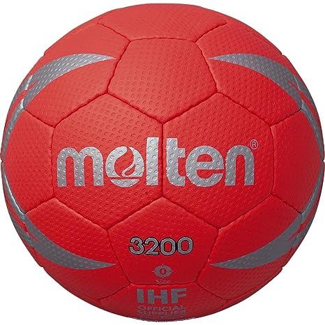 Molten H0X3200 - Balón de balonmano, color rojo/plata, tamaño 0 ...