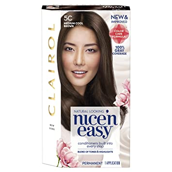 Clairol nice'n easy at-home hair color new formula hair color.