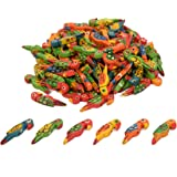 Vardhman Wooden Parrots Beads Size 3.5 cm for Jewellery Making, Dresses, Beading, Art and Crafts and Craft Work (Multicolour) -50 Pieces