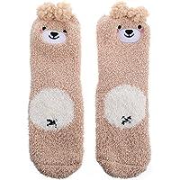 KESYOO Womens Fuzzy Socks Super Soft Cute Bear Non-Slip Fuzzy Fluffy Crew Home Socks for Sleeping Indoor Casual Use…
