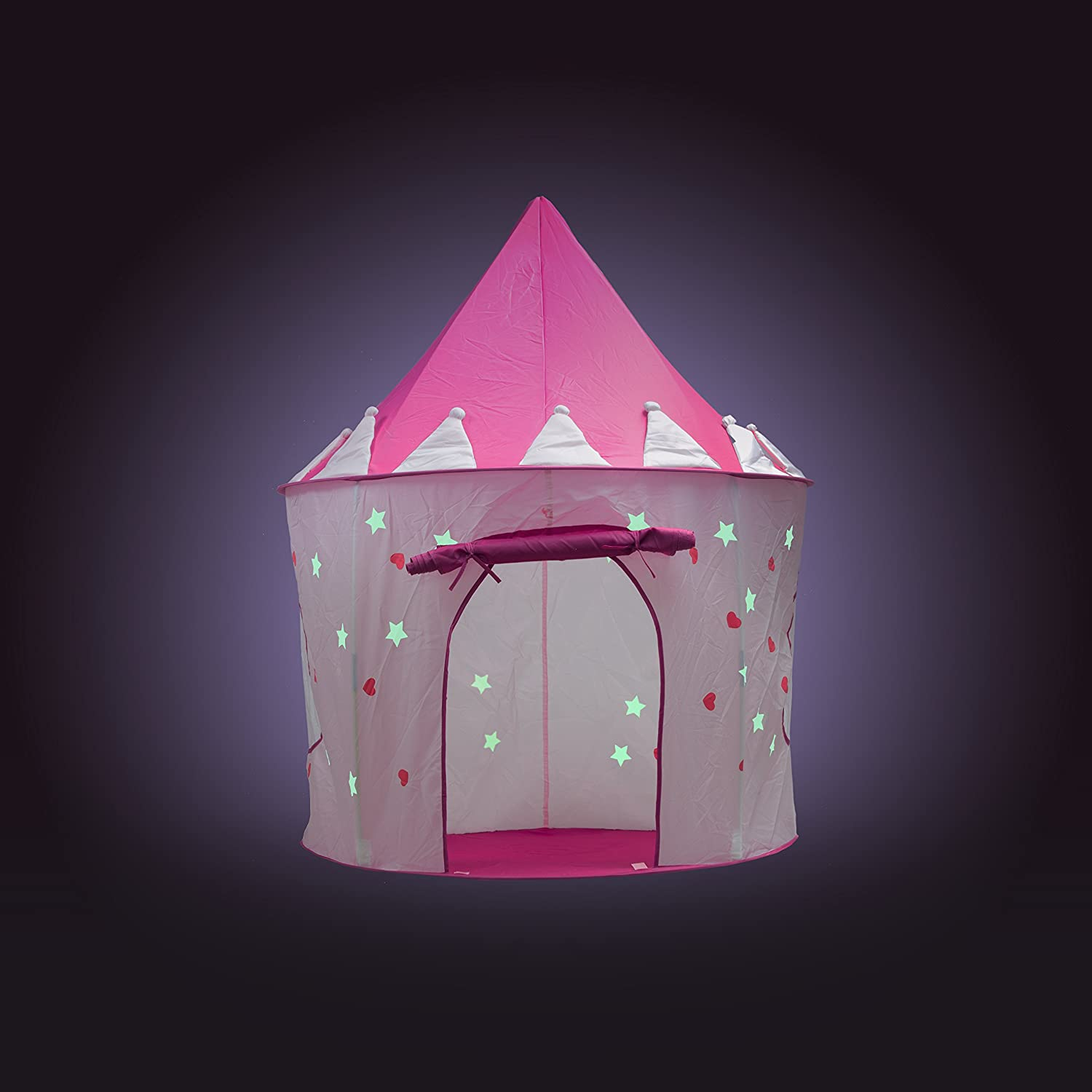 Amazon.com Fox Print Princess Castle Play Tent with Glow in the Dark Stars conveniently folds in to a Carrying Case your kids will enjoy this Foldable ... & Amazon.com: Fox Print Princess Castle Play Tent with Glow in the ...