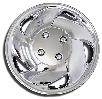 tuningpros wsc-083 C15 cromo Tapacubos rueda Skin Cover 15-inches plata conjunto de