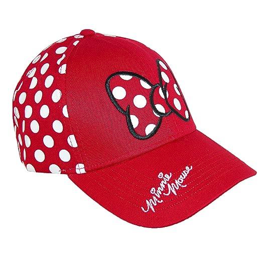 320e9d485be Amazon.com  Disney Minnie Mouse Polka Dot Bow Womens Baseball Hat ...