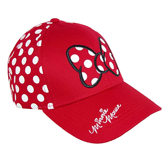 Disney Minnie Mouse Polka Dot Bow Womens Baseball Hat