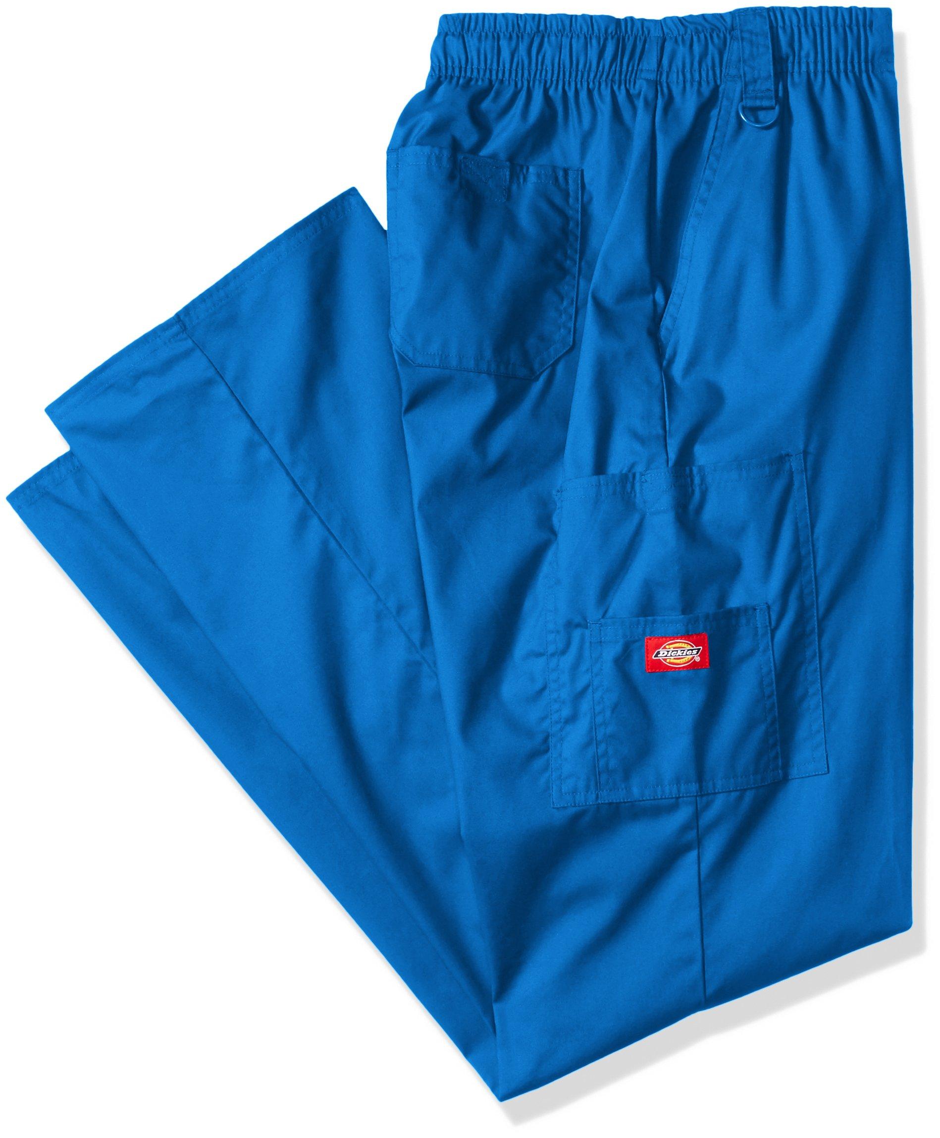 Dickies Men's Big Signature Elastic Waist Scrubs Pant, Royal, XX-Large Tall