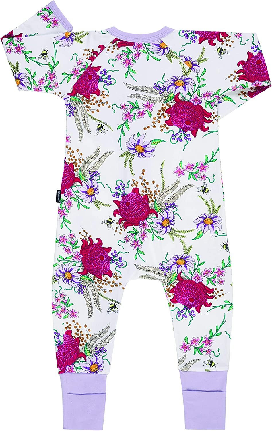 Bonds Zip Wondersuit Backyard Blooms White