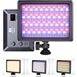 NanGuang RGB66 Adjustable Bicolor Tuneable RGB Dimmable Hard and Soft Light AC/Battery Powered LED Panel with Color Cycle and Lighting Effect Modes