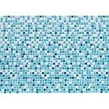 """Papillon 60x 40cm """"mozaiek Super Absorbant Tapis de salle de bain, bleu"""