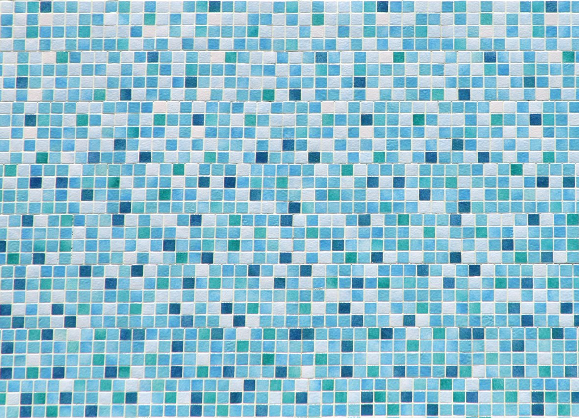 Papillon 60 x 40 cm Mozaiek Super Absorbent Bathroom Mat, Blue IFC Papillon 47039