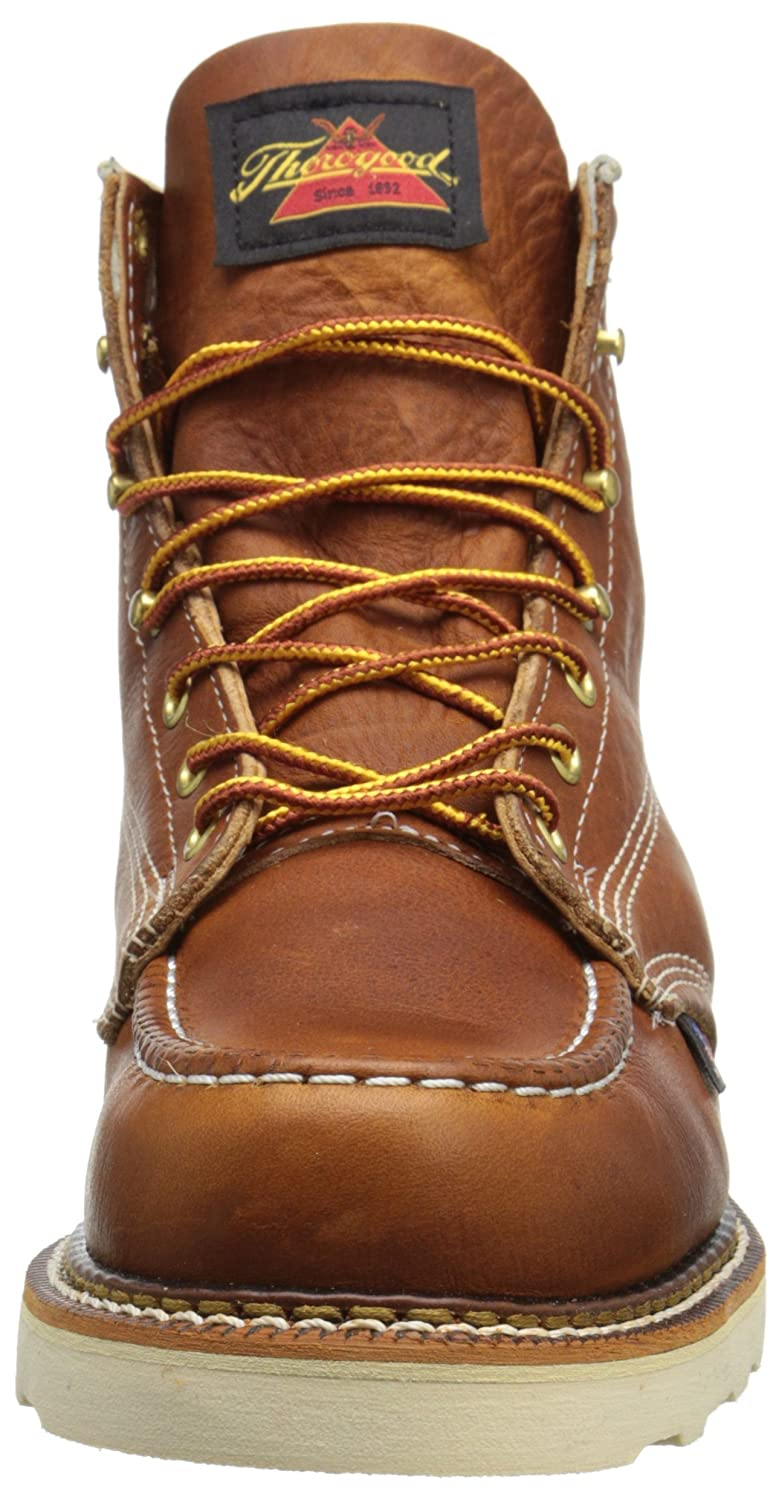 04709c6689f Thorogood Mens American Heritage 6 Moc Toe, MAXwear Wedge Non-Safety ...