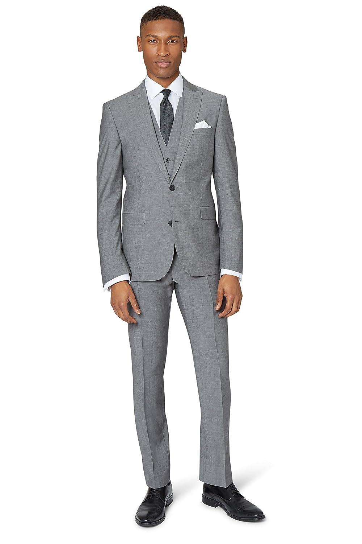 new DKNY Men's Slim Fit Light Grey 2 Piece Suit