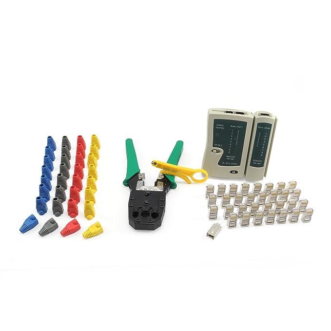 121 opinioni per Incutex kit di strumenti di rete- pinza crimpatrice, cavo tester, connettori di