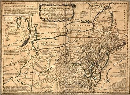 1758 – una mapa general de la media British colonias en América: Viz. Virginia