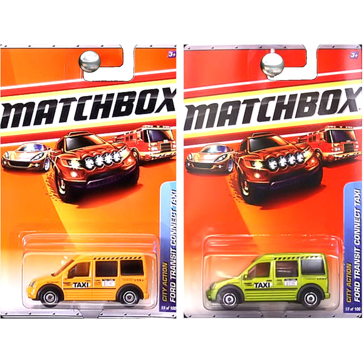 f0b50c5b43f Amazon.com: Matchbox City Action Ford Transit Connect Taxi in Orange ...