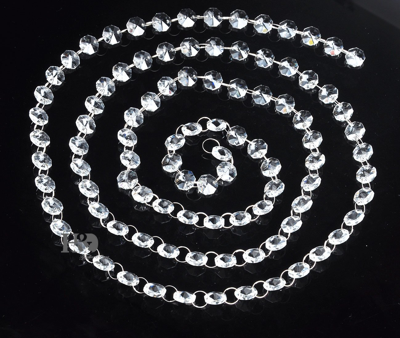 Amazon crystalprismworld 6ft crystal garland chandelier chain amazon crystalprismworld 6ft crystal garland chandelier chain c6019 home kitchen arubaitofo Choice Image