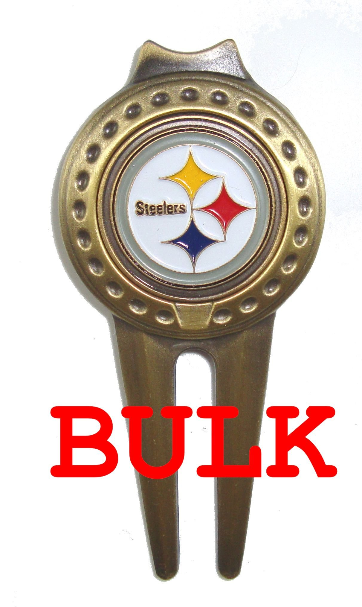 Bulk: 50 Pittsburgh Steelers Divot Tools with Golf Ball Markers