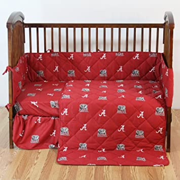Amazon.com: Alabama Crimson Tide – 5 Piece Crib Set ...