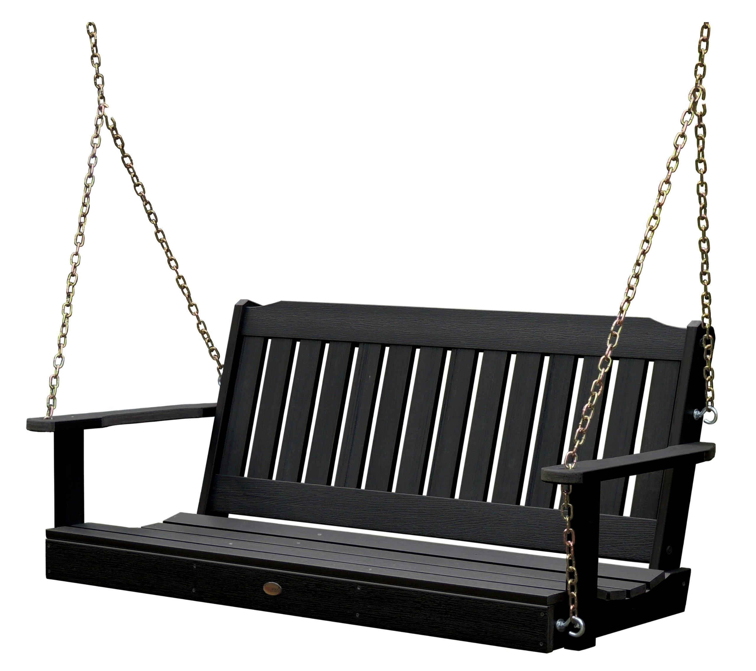 Highwood AD-PORL2-BKE Lehigh Porch Swing, 4 Feet, Black by highwood