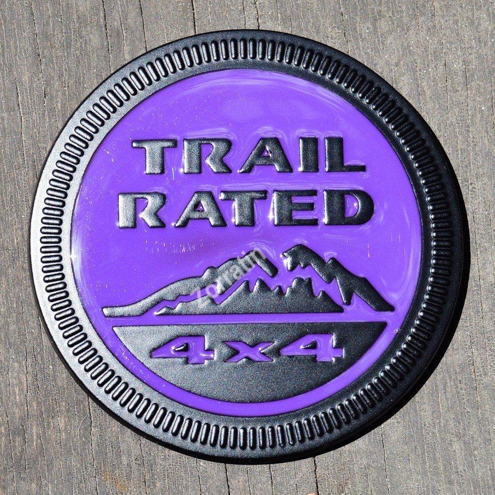 red in desert zorratin Metal Trail Rated 4x4 Round Emblem Badge for Jeep Wrangler Unlimited JK Cherookee Rubicon Liberty Patriot Latitude 2018+