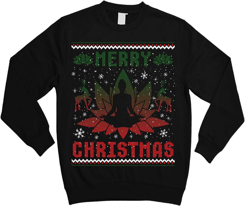 Yoga Sweater Funny Gift for Noel Ugly Christmas Sweater Sweatshirt