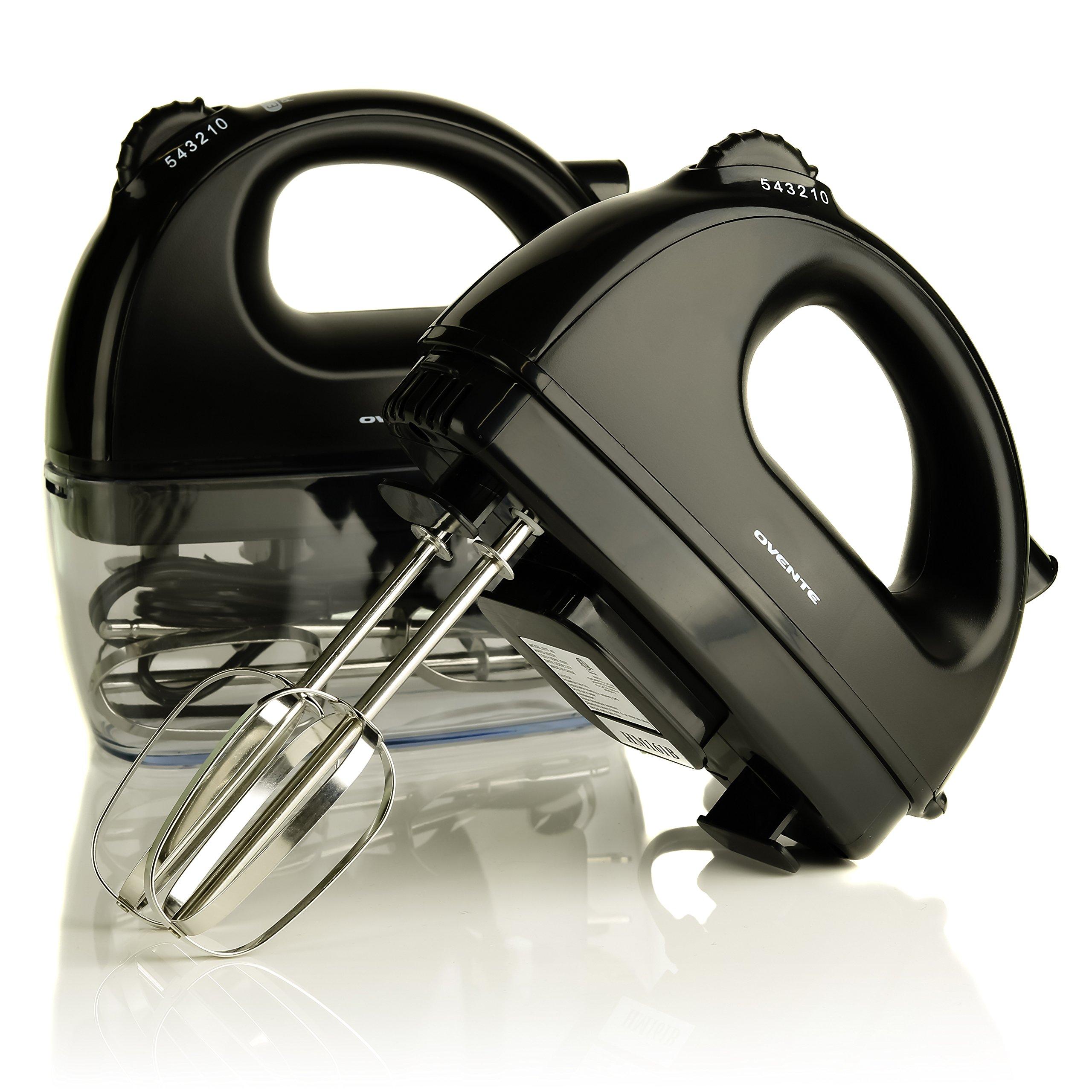 Ovente HM161B Hand Mixer, Ultra Power 5-Speed