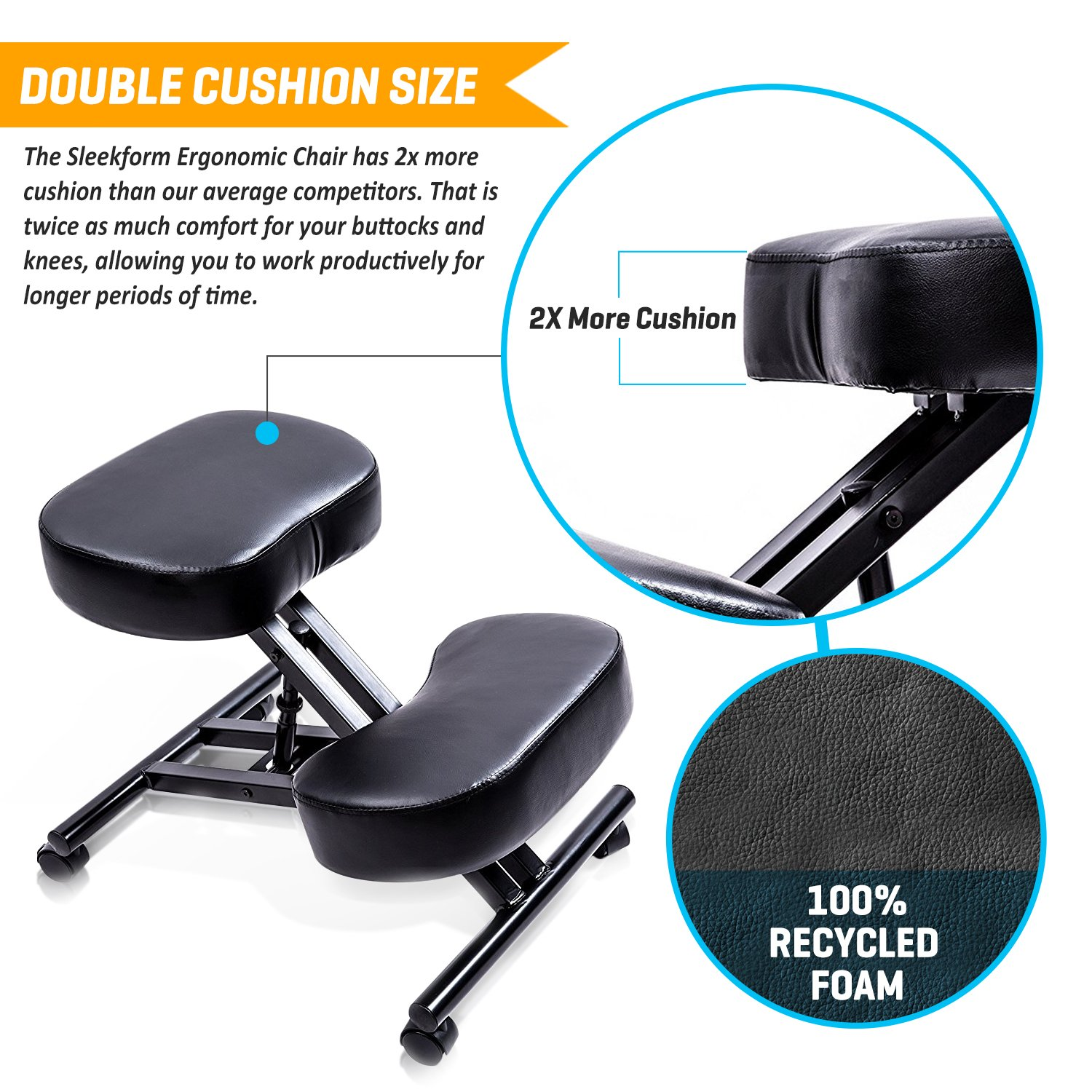 Amazon SLEEKFORM Ergonomic Kneeling Chair Adjustable Stool