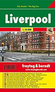 Liverpool, plano callejero de bolsillo plastificado. City Pocket. Escala 1:10.000.