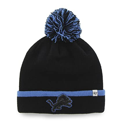 Amazon.com    47 NFL Detroit Lions Baraka Cuff Knit Hat with Pom ... ee6efd729184
