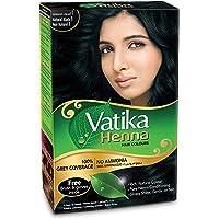 Dabur Vatika Henna Hair Colour - Natural Black, 6 x 10 gm