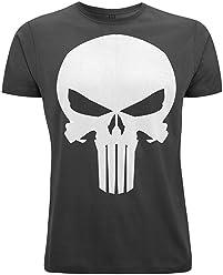 Bear Essentials Clothing. Marvel's Punisher Skull Unisex Crew Neck T-Shirt