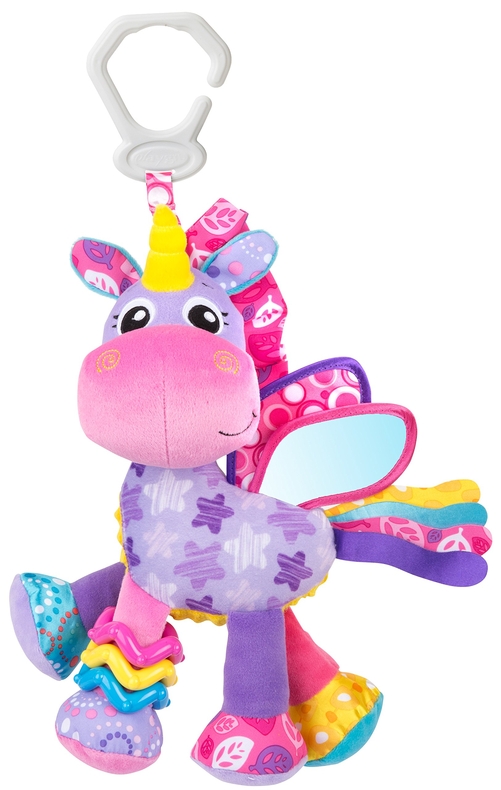 Playgro 0186981 Activity Friend Stella Unicorn 10'' STEM Toy, Multi