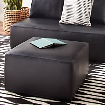 Amazing Mainstays Modular Ottoman Black Faux Leather Ncnpc Chair Design For Home Ncnpcorg