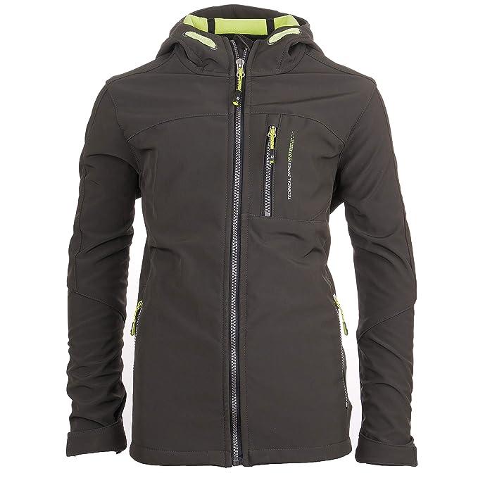 CMP Parka di transizione giacca giacca funzione GRIGIO CERNIERA CAPPUCCIO