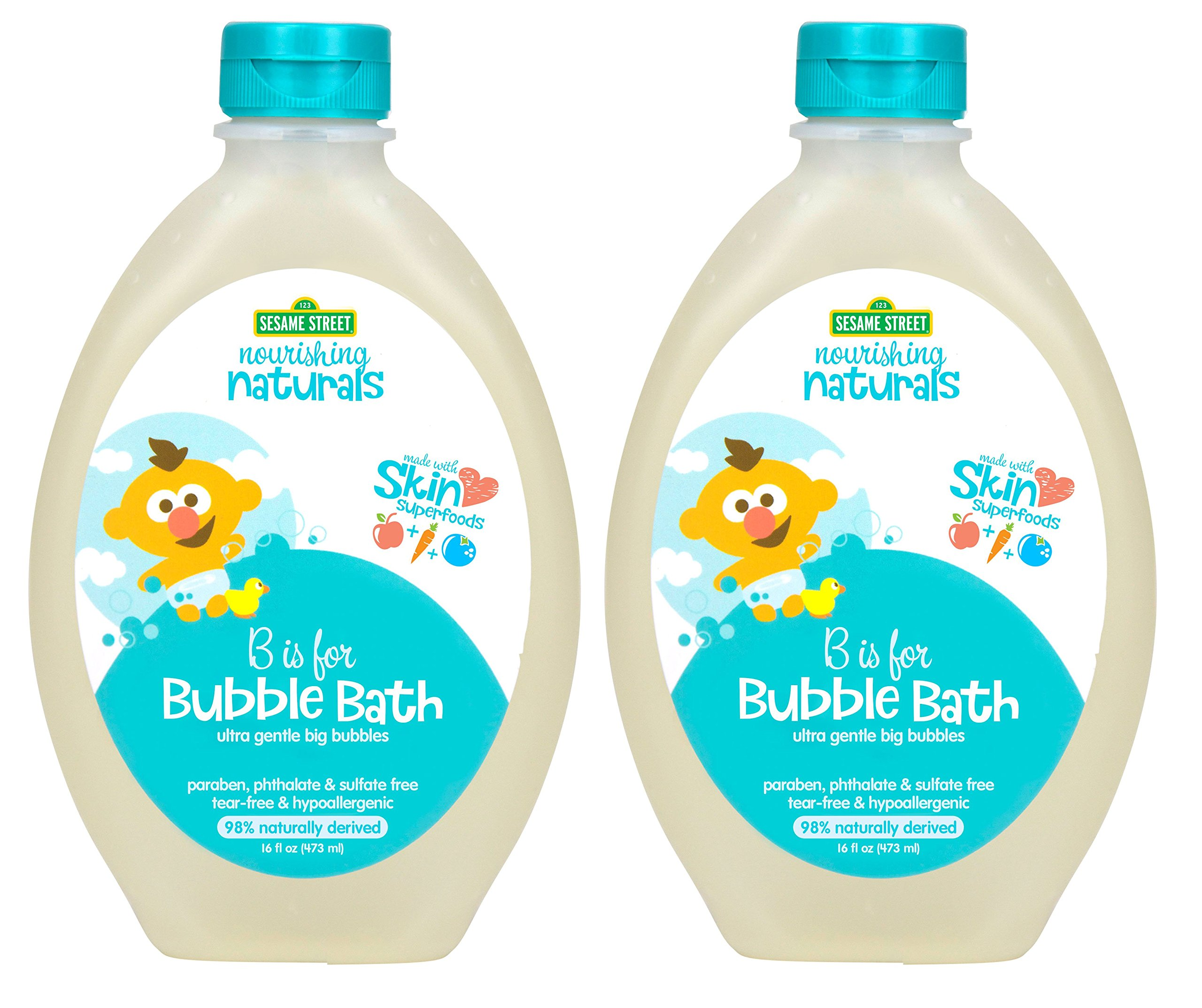 Sesame Street Nourishing Naturals Bubble Bath 16 oz 2 Pack