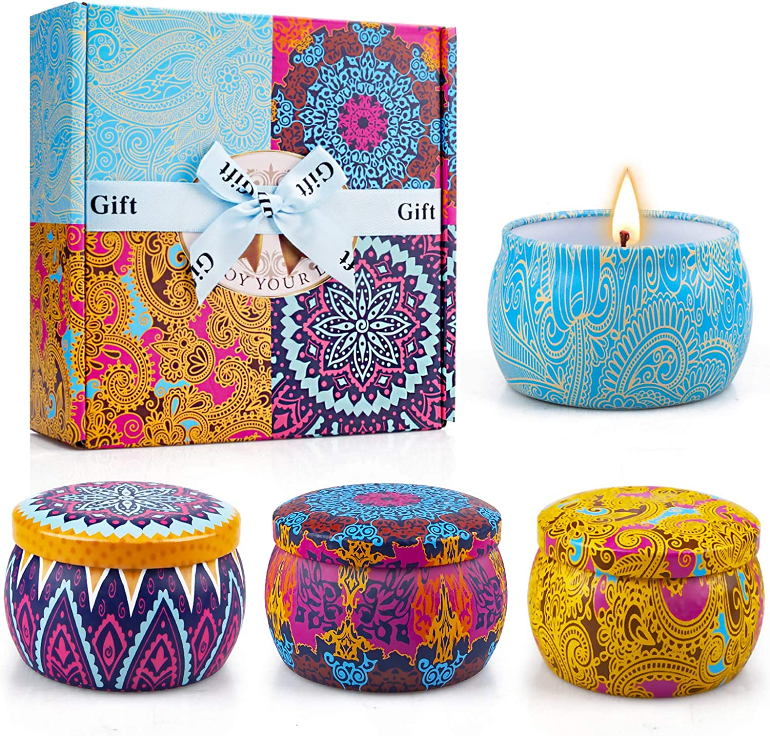 Cute candles with a scent