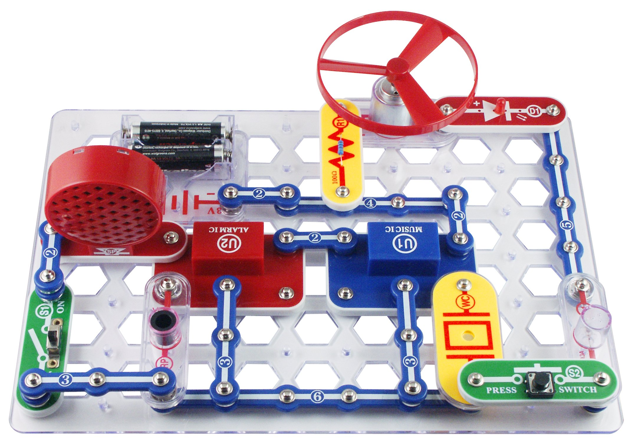Snap Circuits Jr. SC-100 Electronics Exploration Kit | Over 100 STEM Projects | 4-Color Project Manual | 30 Snap Modules | Unlimited Fun by Snap Circuits (Image #3)