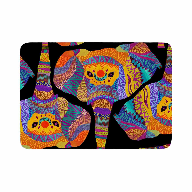 Kess InHouse Pom Graphic Design The Elephant in The Room Rainbow Tribal Memory Foam Bath Mat 17 x 24
