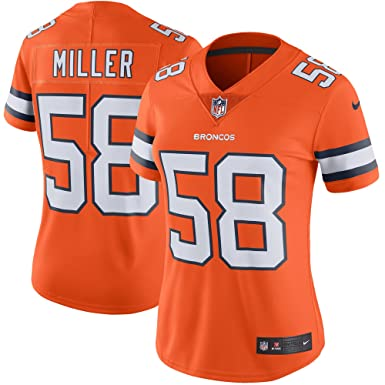 14e7330b10d78 NIKE Women's Medium Von Miller Denver Broncos Color Rush Limited Jersey -  Orange