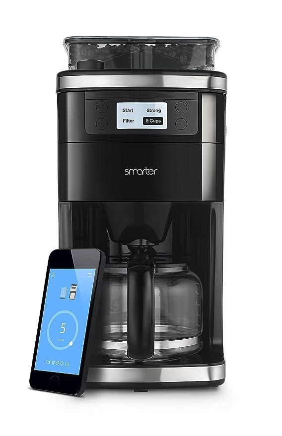 Smarter cafetera eléctrica SMC10EU Appgesteuert negro ...