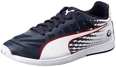 Puma Boy s BMW Ms Evospeed Jr Team Blue and Puma White Sneakers - 6 ... 888080618
