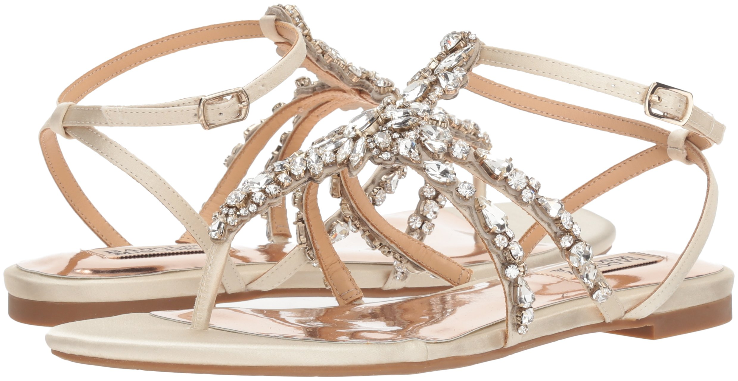 Badgley Mischka Women's Hampden Flat Sandal, Ivory, 9.5 M US by Badgley Mischka (Image #5)