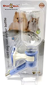 Choco Nose H590 Patented No Drip Dog Water Bottle. Small-Medium Sized Dogs(15-30 lb)Cat Best Animal Wire Cage Feeder Leak-Proof Pet Kennel Dispenser Drinker BPA-Free 11.2Oz 330Ml Nozzle Diameter: 16mm