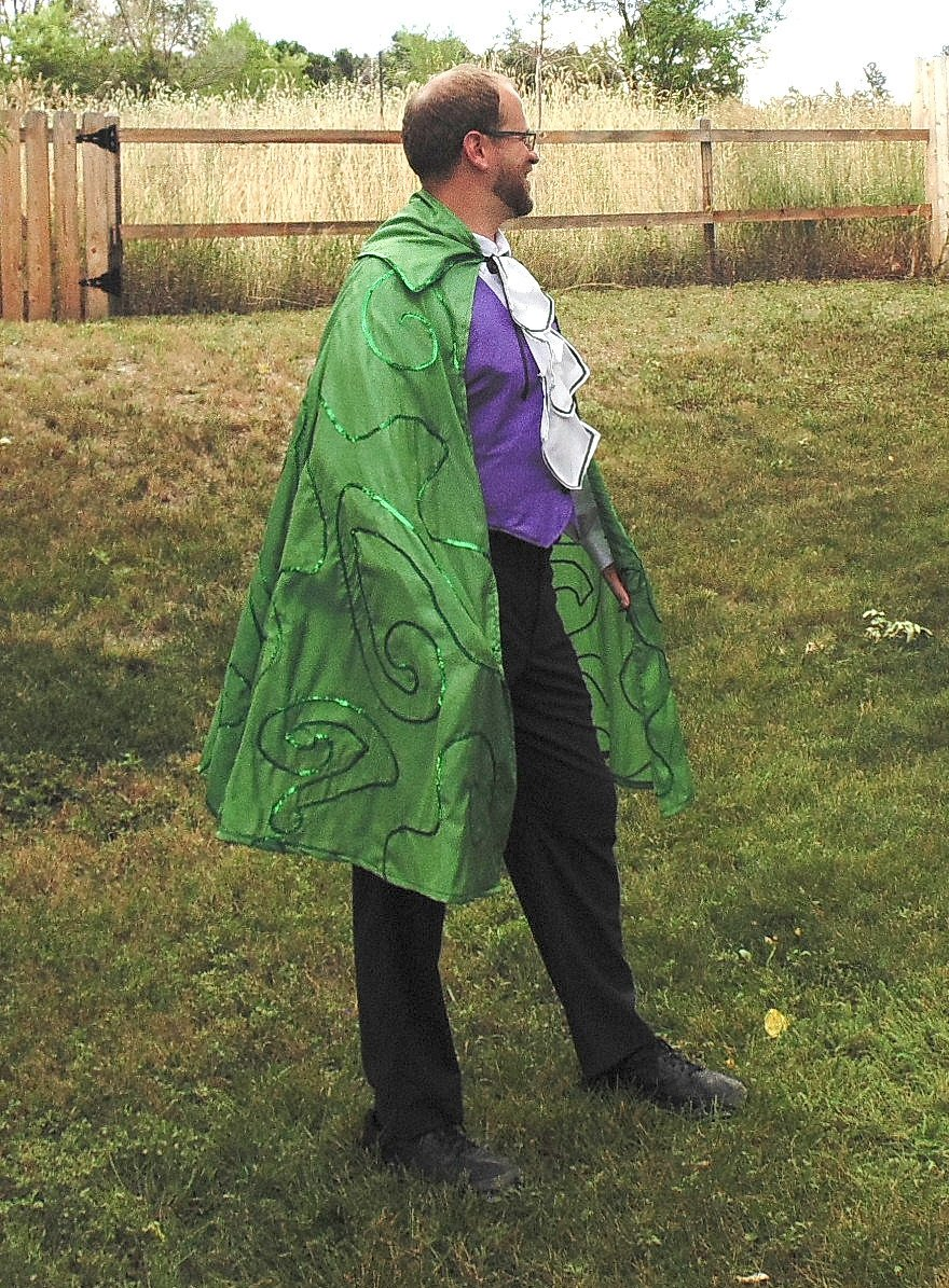 Men's one-size Mr. Riddle superhero Villain costume
