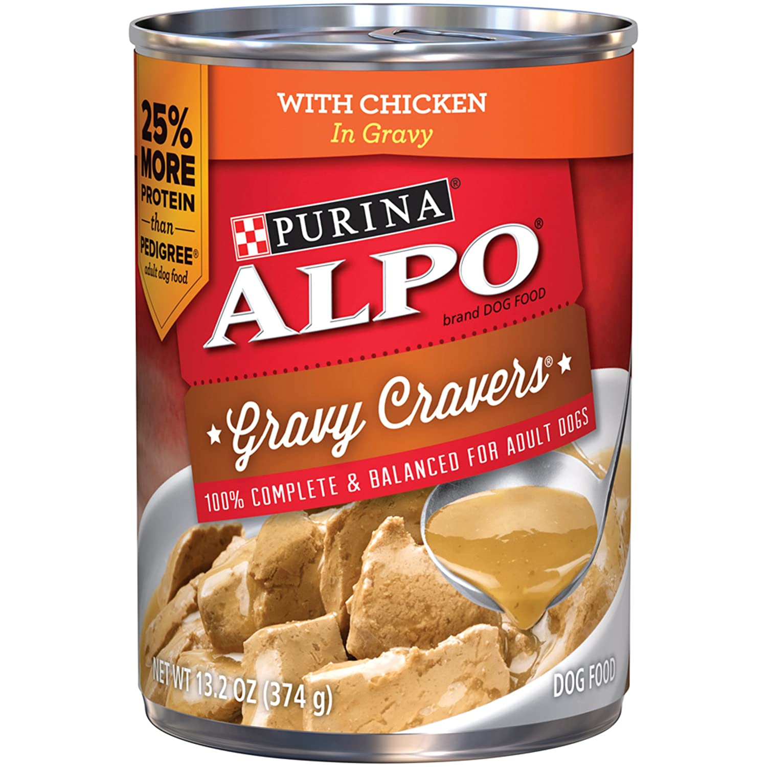 Purina ALPO Gravy Cravers Wet Dog Food - 12-13.2 oz. Cans