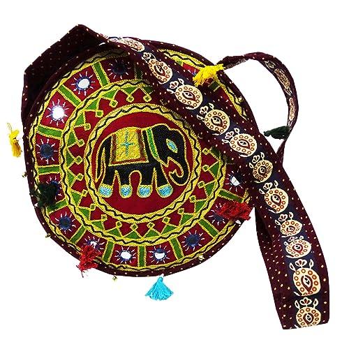 PEEGLI Bolso De Hombro Con Estilo De Las Mujeres Bolso De Algodón Bordado Indio Nuevo Bolso: Amazon.es: Zapatos y complementos