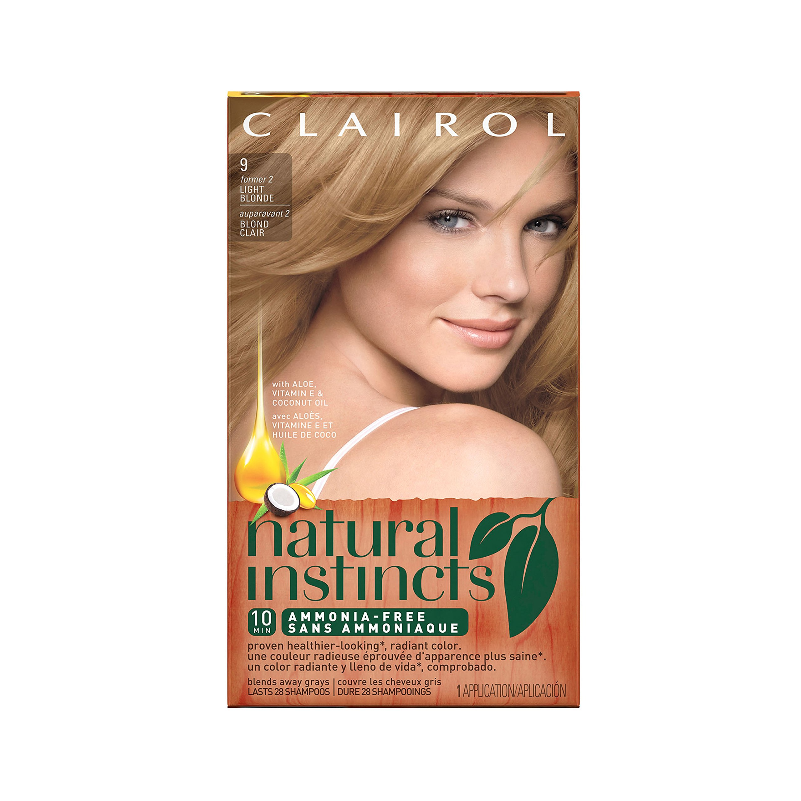 Clairol Natural Instincts Semi-Permanent Hair Color Kit (Pack of 3), 9 / 2 Sahara Light Blonde Color, Ammonia Free, Lasting for 28 Shampoos