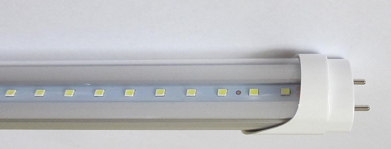 DLC Approved Daylight White 6500K 4 ft 36W to 40W Equivalent UL Listed 18 Watt 1900 Lumens Single Ended Power 25-Pack Bulb Basics T8 LED Tube Lights Clear Lens